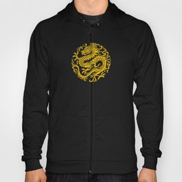 Traditional Yellow and Red Chinese Dragon Circle Hoody