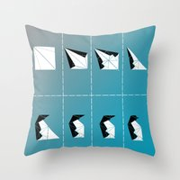 penguin Throw Pillows featuring PENGUIN by ARCHIGRAF