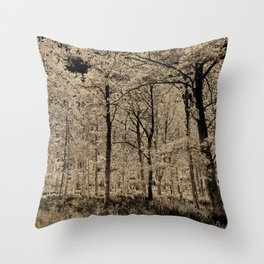 Sepia Forest art Throw Pillow
