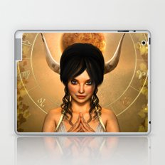 Taurus zodiac fantasy circle Laptop & iPad Skin