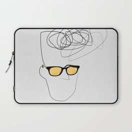 Unknown Man Portrait With Cool Haircut Laptop Sleeve