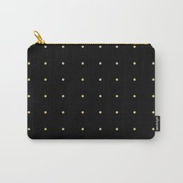 Black & Cream Polka Dots Carry-All Pouch