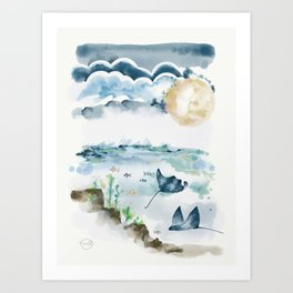 Moon Dancers Art Print