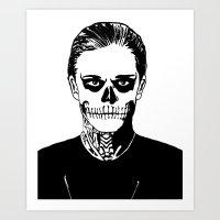 kris tate Art Prints featuring Tate  by Rachcox