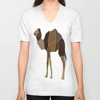 camel V-neck T-shirts featuring Camel by ANIMALS + BLACK