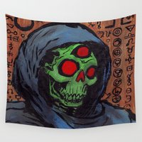 occult Wall Tapestries featuring Occult Macabre by Chris Moet