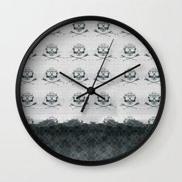 Mountain Skulls: Slight Blue Wall Clock
