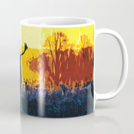 The water, the fire and the deer Coffee Mug
