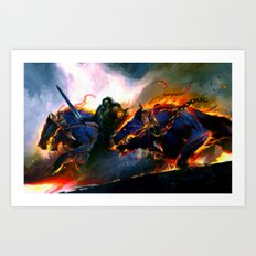 Hellhounds - Painting Style Art Print