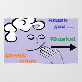 ASL Thank You! Rug