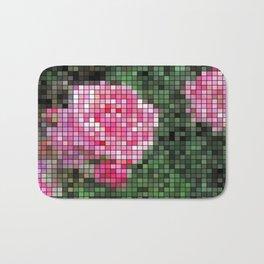 Pink Roses in Anzures 1 Mosaic Bath Mat