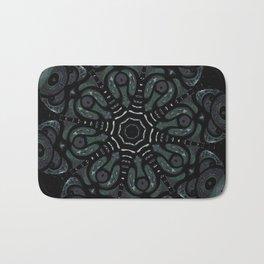 Dark Mandala #4 Bath Mat