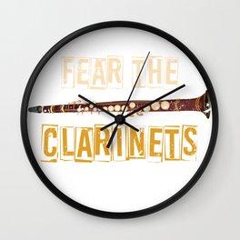 Fear The Clarinets Wall Clock