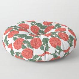 Red Dahlia Floor Pillow