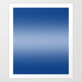 Blue to Pastel Blue Horizontal Bilinear Gradient Art Print