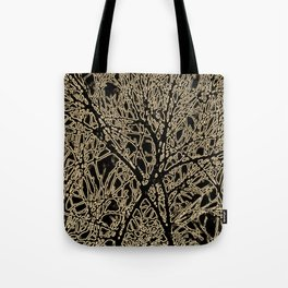Tangled Tree Branches in Black and Sepia Tote Bag
