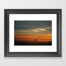 Sunrise: Orange Flood Framed Art Print