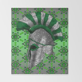 Spartan Helmet Throw Blanket