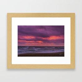 kill devil hills sunrise Framed Art Print