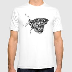 Pretty Fly For A Butterfly Mens Fitted Tee White MEDIUM