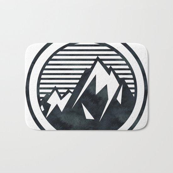 THE MOUNTAIN Black and White Bath Mat