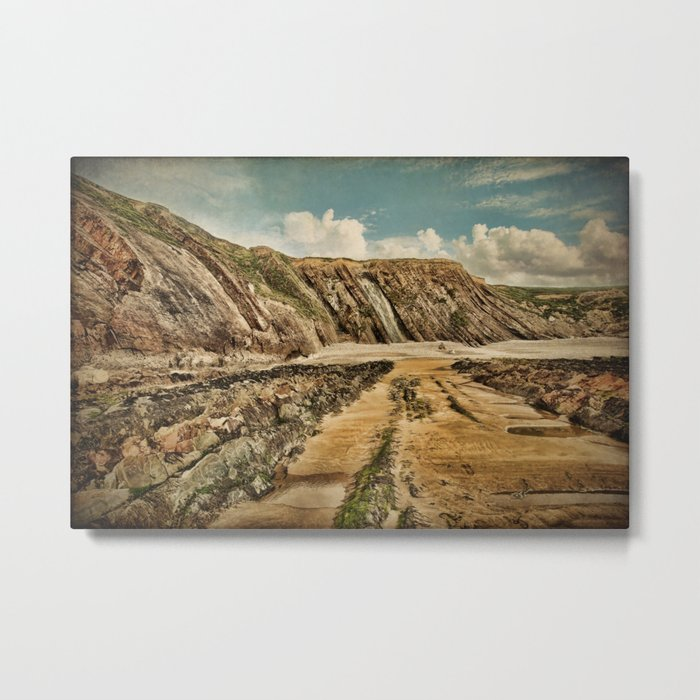 Cornish Coast Metal Print