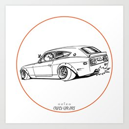 Crazy Car Art 0225 Art Print