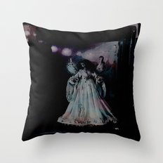 Angels in the night Throw Pillow