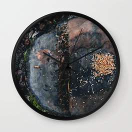 Moody Forest Tree with Seeds Wall Clock