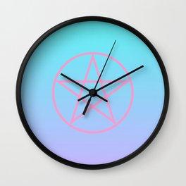 Pastel Pentacle Wall Clock