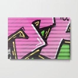 Pink Street Expression Metal Print