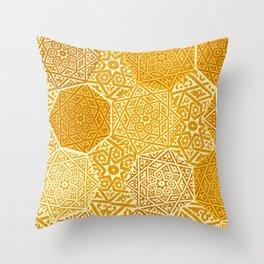 Saffron Souk Throw Pillow