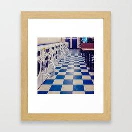 Laundry Room At Night Framed Art Print