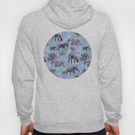 Sweet Elephants in Purple and Grey Hoody