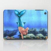derek hale iPad Cases featuring Merman Derek by Amy Mancini
