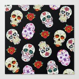 Sugar Skull Pattern Canvas Print