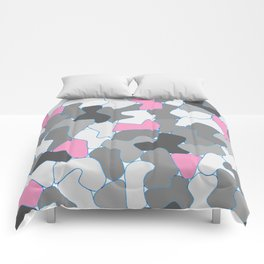 Stone Wall Drawing #2 Pink Comforters