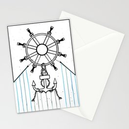 Steering Helm and Anchor Stationery Cards