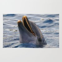 dolphin Area & Throw Rugs featuring dolphin by LaiaDivolsPhotography
