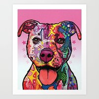 rottweiler Art Prints featuring Rottweiler Dog by trevacristina