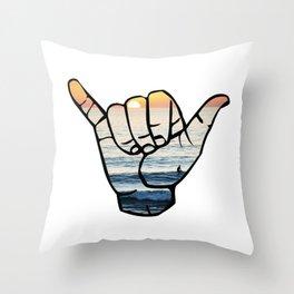 Ocean Shaka Throw Pillow