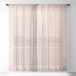 Moon Dust Rose Gold Sheer Curtain