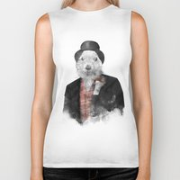 phil jones Biker Tanks featuring Mr. Phil by Robert Farkas