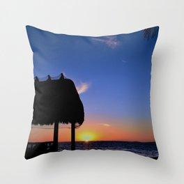 Florida Keys Sunset Throw Pillow