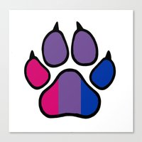 bisexual Canvas Prints featuring Bisexual Furry Pride by Jeymohr