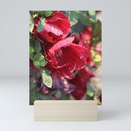 Ruby Red Hibiscus Mini Art Print
