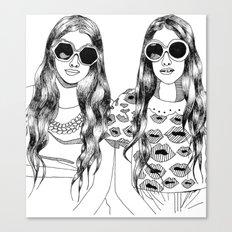 two'fashions girls Canvas Print
