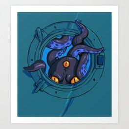 Porthole Monster Art Print