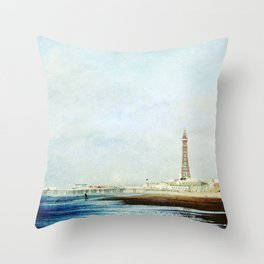 On The Front Textured Fine Art Photograpy Throw Pillow