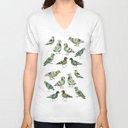 Pigeons Unisex V-Neck